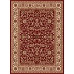 Sensation Red 10 ft. 6 in. x 14 ft. 6 in. Traditional Area Rug