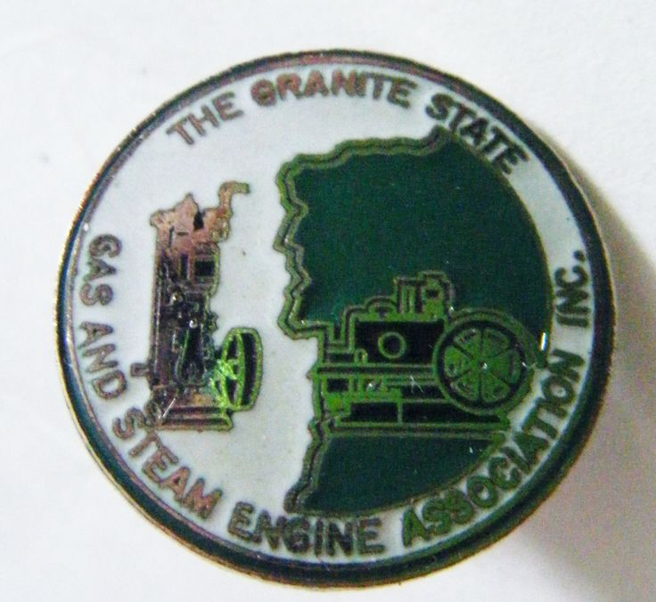 The Granite State Gas And Steam Engine Association Pin From New Hampshire With Old Man Of Mountain by parkledge on Etsy