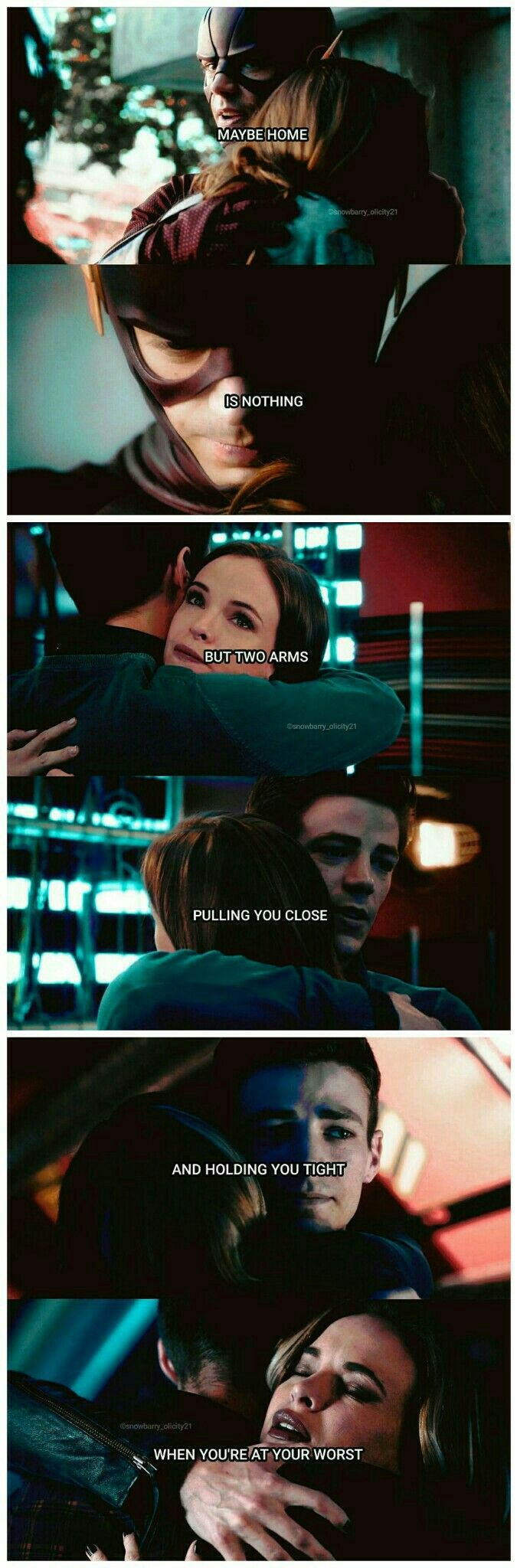 "Snowbarry ""You are my home"" Barry x Caitlin #TheFlash #parallel #ship #FlashFrost #Snowbarry"