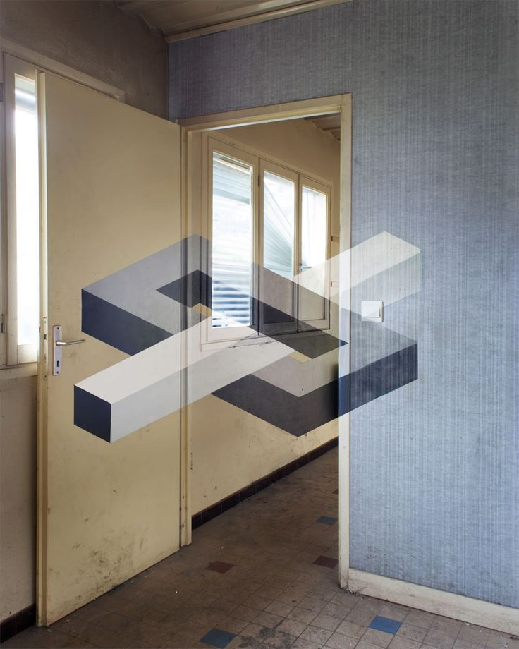 Good Illusions in Neglected Rooms Anamorphic geometric art by Fanette G