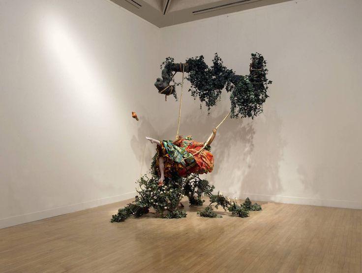 244. The swing (after Fragonard). Yinka Shonibare. 2001. Mixed-media installation.