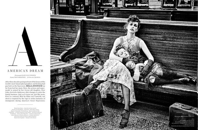 Милла Йовович и её дочь на обложке Vs. Magazine (Интернет-журнал ETODAY)
