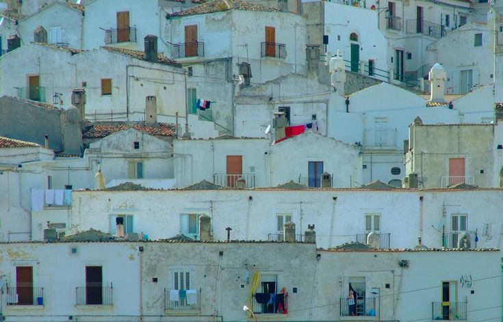 The buildings in 'quartiere Junno', Monte Sant'Angelo, Apulia. Junno blocks through the eyes of giorgimer