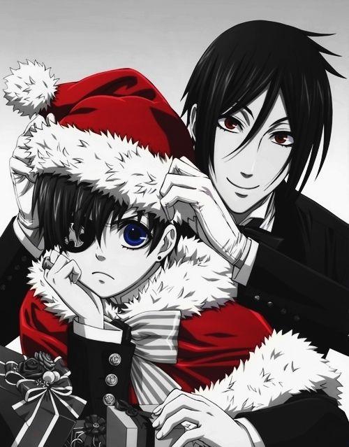 anime: kuroshitsuji (black butler) anime character: sebastian michaelis and ciel…