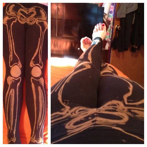 Skeleton Leggings – Westsinister Abbey · black leggings and a bleach pen - so many ideas! Indie Crafts | CraftGossip.com link right to tutorial found in this page!