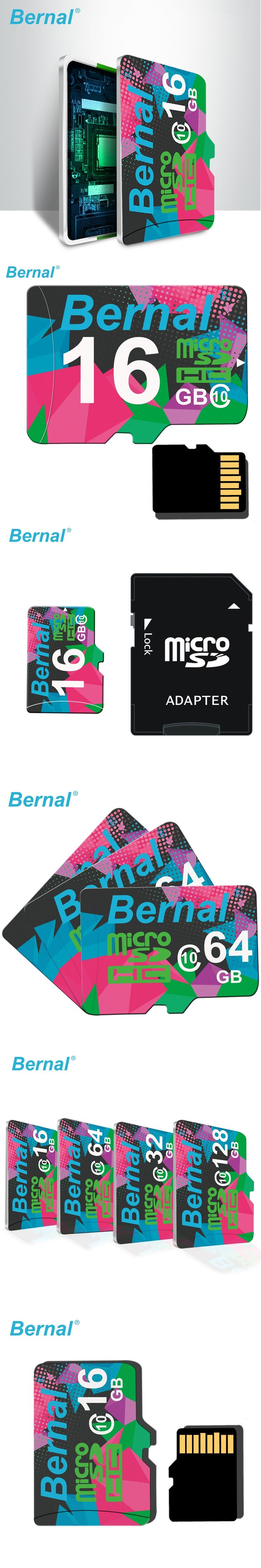 Bernal Micro sd card 32gb 16gb 8gb memory card micro sd TF card high speed Class10 mciro sd card for phone camera free shipping
