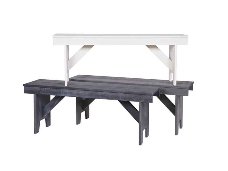 Ławka z drewna sosnowego Loet