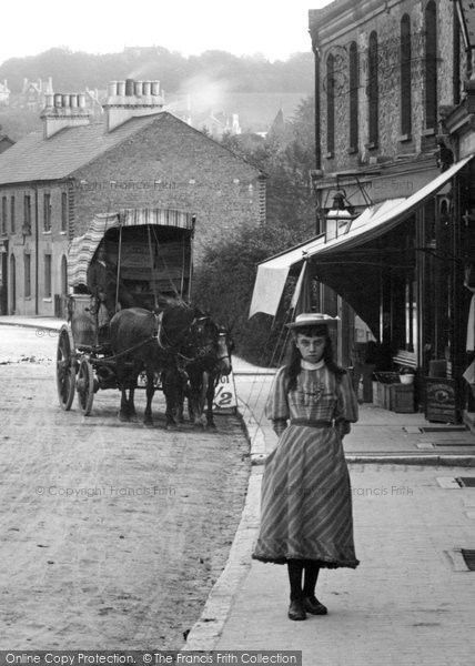 Caterham, A Girl, Croydon Road 1894. From The Francis Frith Collection, a privately-owned archive of over 130,000 photographs of Britain from 1860-1970 that you can browse online for free anytime. #francisfrith #photography #nostalgia