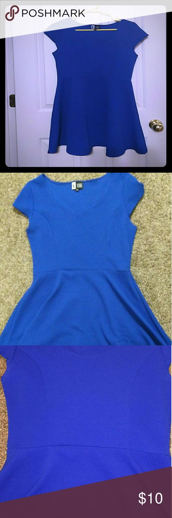 Royal Blue Vibe Skater Dress Size XL skater dress. Also looks great with leggings. Brand is Vibe Sportswear, in great condition. Dresses Mini