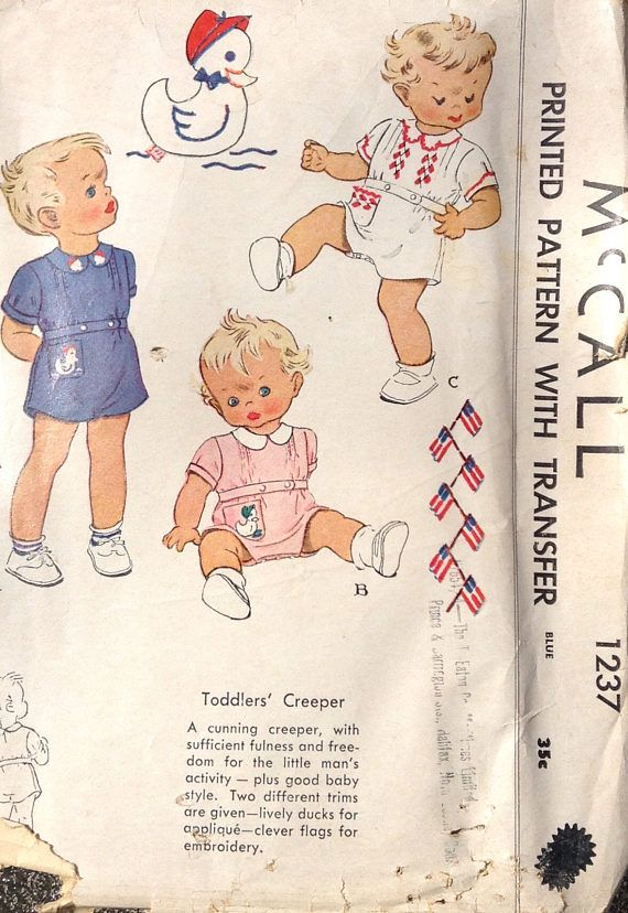 Toddlers creeper summer playsuit sewing pattern