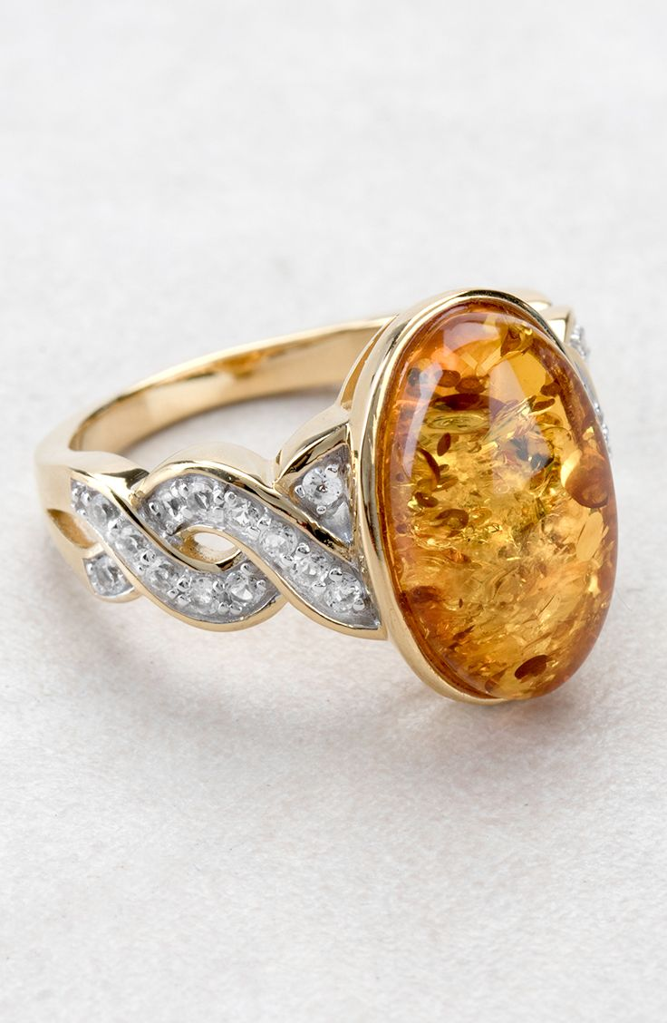 Orange You Glad You Stumbled Upon This Amber Ring? So Are We! Perfect For