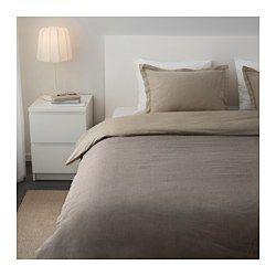 IKEA - MALOU, Housse couette   taie(s), Deux places/grand deux places, , Teint sur fil; le fil est teinté avant d