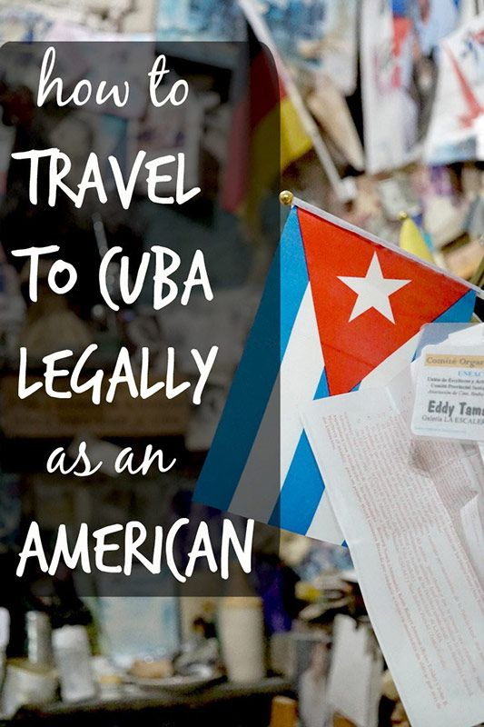 Did you know it's now legal for Americans to travel to Cuba? Read about what exactly you need to do to travel to Cuba legally as a US citizen. It's actually pretty easy!