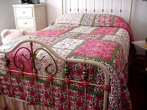 cynthia rowley cotton king size quilt handmade floral flowers ebay