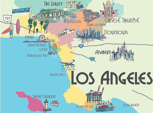Los Angeles California Map Of Greater L A With Highlights Face Mask For Sale By M Bleichner In 2020 California Map Los Angeles Map Los Angeles Tourism