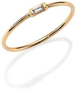 Chicco Zoe Diamond & 14K Yellow Gold Horizontal Baguette Ring on shopstyle.com