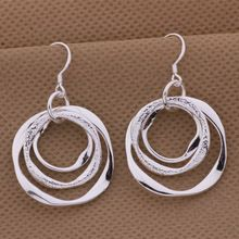 new factory wholesale AE542 fashion 925 sterling silver earrings high quality elegant cute women classic jewelry package mail(China (Mainland))