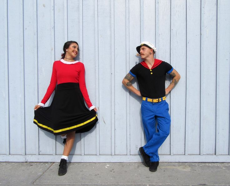 Popeye costume. Popeye and Olive Oyl Costumes. Halloween 2016. Couples costumes