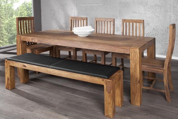 Exklusiver Massiver Sheesham Esstisch MAKASSAR 200cm Tisch  bei Riess Ambiente