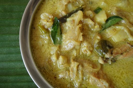 Chicken stew with Appam is a popular breakfast fare in Kerala. Simple, aromatic, hearty stew that is sure to win many a heart. Chicken and potato cubes are slowly simmered in a subtly spiced coconut milk base. You can even add vegetables like carrot, beans and peas and increase the nutrition profile of the stew.This culinary gem of Kerala cuisine makes for a decent side with roti, paratha and rice too other than appam and puttu.