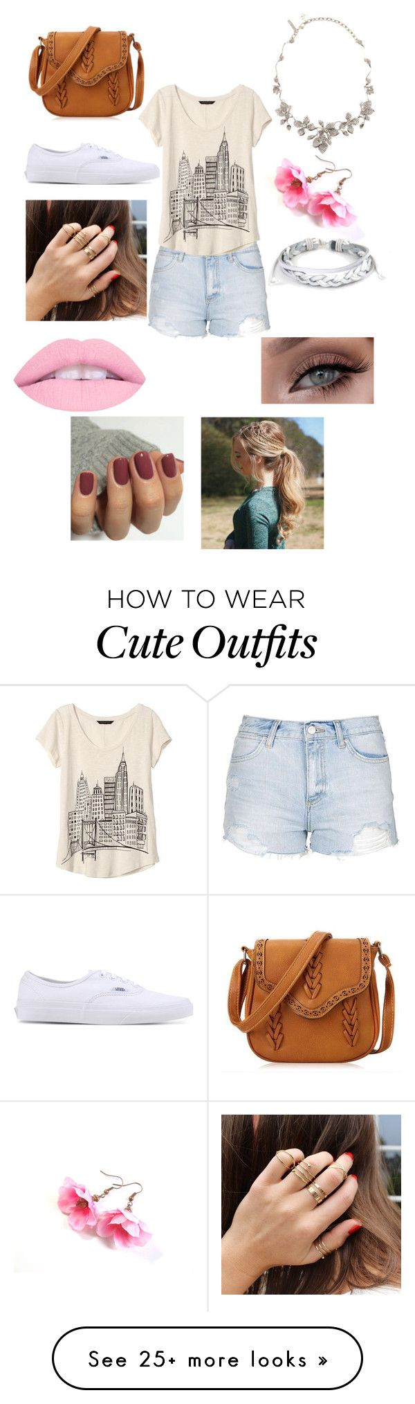 """""""Hangin' Out with my Besties Outfit"""" by pretty1d on Polyvore featuring Topshop, Banana Republic, Vans, Oscar de la Renta and West Coast Jewelry"""