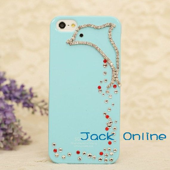 cute dolphin iPhone case iPhone 5 case iPhone 4/4s by Jackonline, $14.99