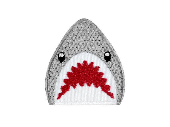 Pure, deadly, cuteness. If a shark emoji existed, this is what Winks For Days believes it would look like. This cute Shark Emoji iron on patch is