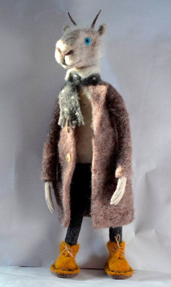 Goat in a coat Art Dolls Interior doll Gift For Her