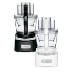 Buying a food processor took my cooking to a whole other level! It enabled me to prepare much larger quantities of food, quicker, and with better uniformity. My only regret is that I bought a 4 cup one, because I was usually cooking for one, and not one like this that has dual containers.  Cuisinart® Elite Collection™ 12-Cup Food Processor - Bed Bath & Beyond