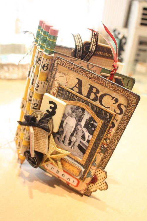 Denise Hahn Graphic 45 ABC Primer Mini Album - 01