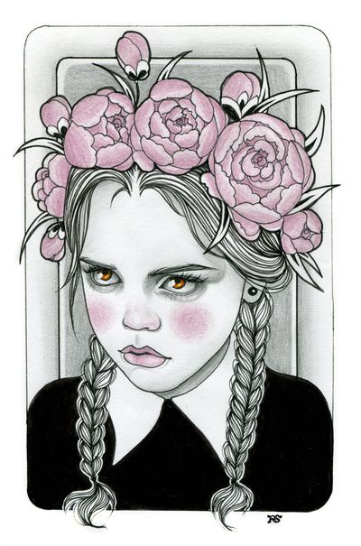 Wednesday Addams by Rose Ellen Swenson