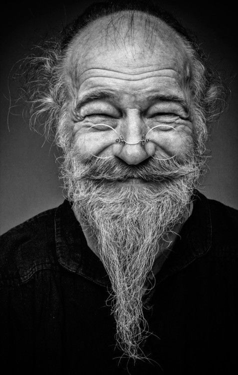 Old man, glasses, beard, funny face, great guy, aged, lines of life and wisdom, a face with many stories to tell, portrait, photo b/w.