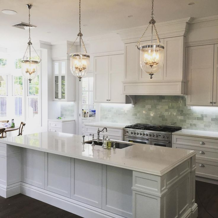 Hamptons Style Lighting: Hamptons Decor, Kitchen Island And Breakfast Nook