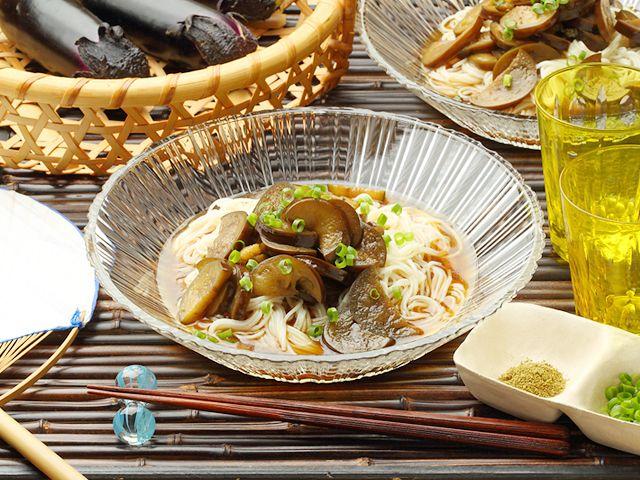 冷やしなす入りつゆをぶっかけ!そうめん #somen #tsuyu #eggplant #recipe #japanesefood