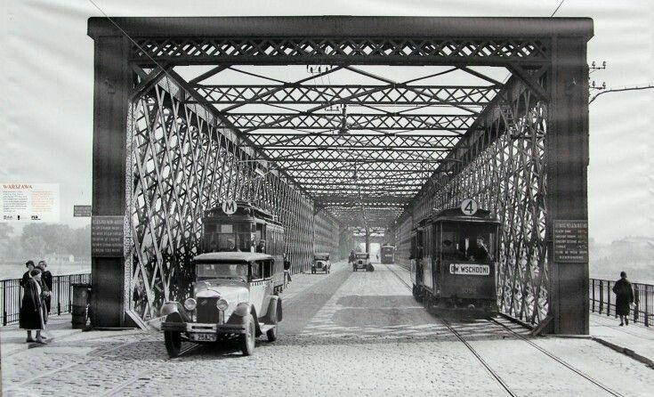 """Budyń na Twitterze: """"Inauguracja z mojej strony #FunClubKierbedzia lata 1932-36, widok w stronę Pragi. Trombik M jak mosty, 4ka i taksówka. Jest moc -perspektywa https://t.co/kpFO5oBUb1"""""""