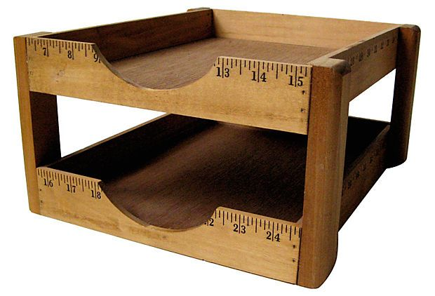 One Kings Lane - Vintage Accessories & Furniture - Ruler Letter Tray