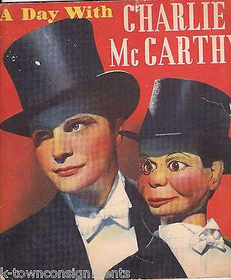 A DAY WITH CHARLIE McCARTHY & EDGAR BERGEN VINTAGE GOLDWYN FOLLIES BOOK 1938