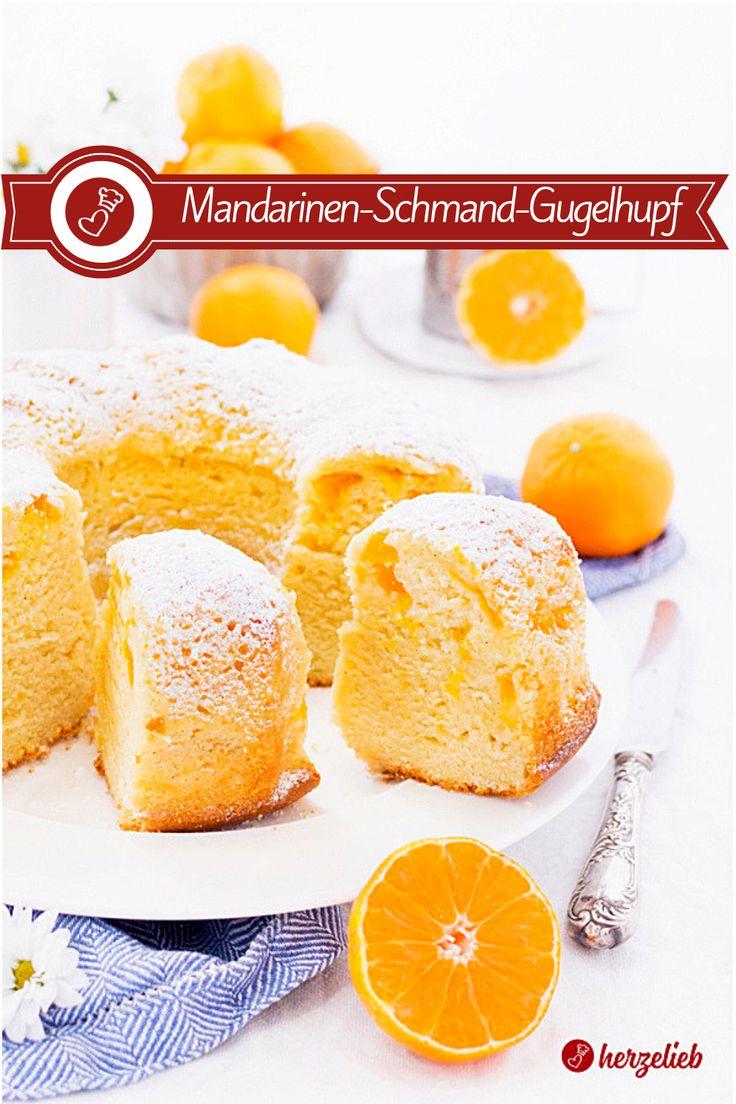 Mandarin sour cream Gugelhupf recipe -Schmandkuchen juicy