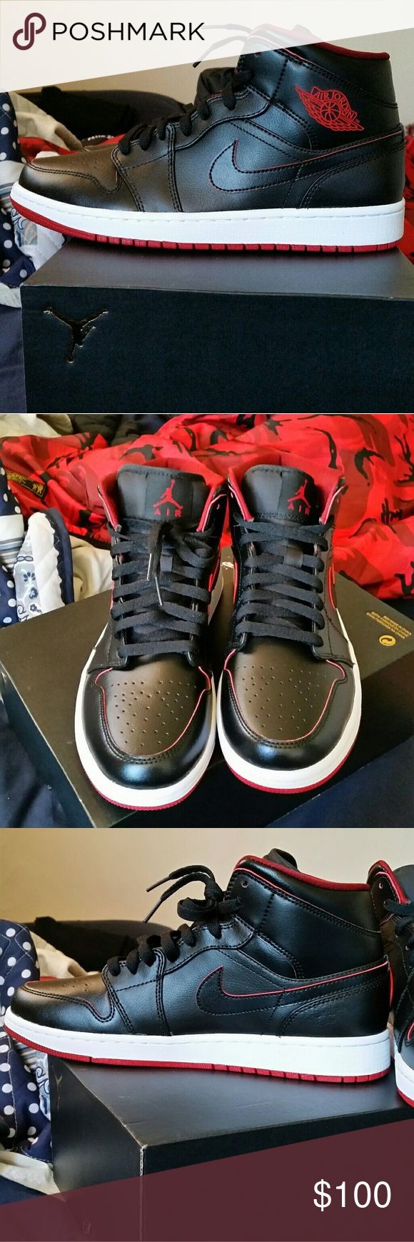 Nike air jordan 1s Brand new. The color is reddish-burgundy and black. 100% authentic Jordan Shoes Sneakers