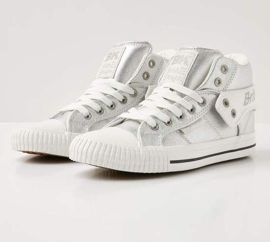 British Knights ROCO Dames sneakers hoog - Zilver - maat 39 ...