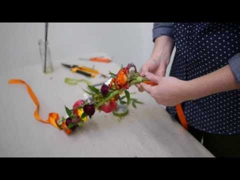 How To Make A Beautiful Flower Crown | Real Flowers - YouTube