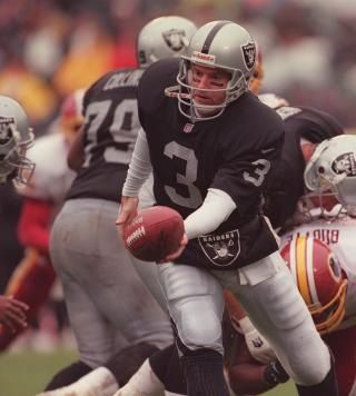 Jeff George - His 1997 campaign was the 3rd best single-season passing performance in Raiders history – 290-of-521 for 3,917 yards, 29 TDs and just 9 INTs.