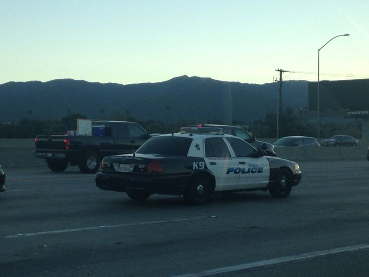 Manhattan Beach Pd K9 On The 91 Fwy In Corona Victoria Police Police Cars Police