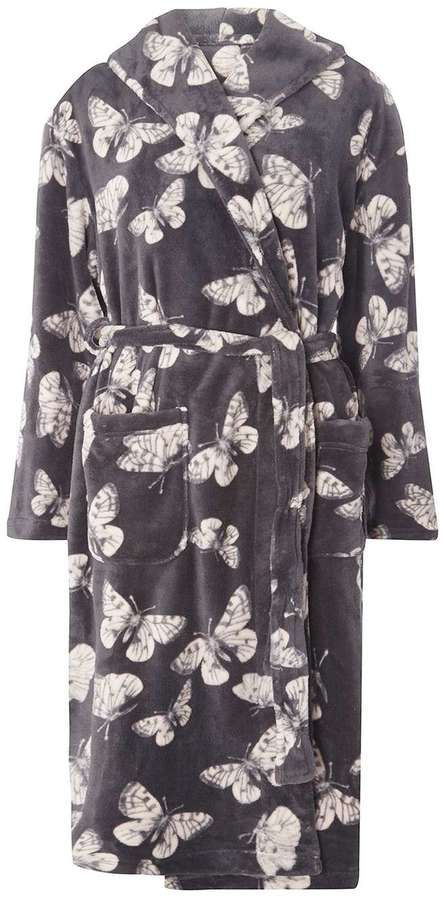 Grey butterfly dressing gown