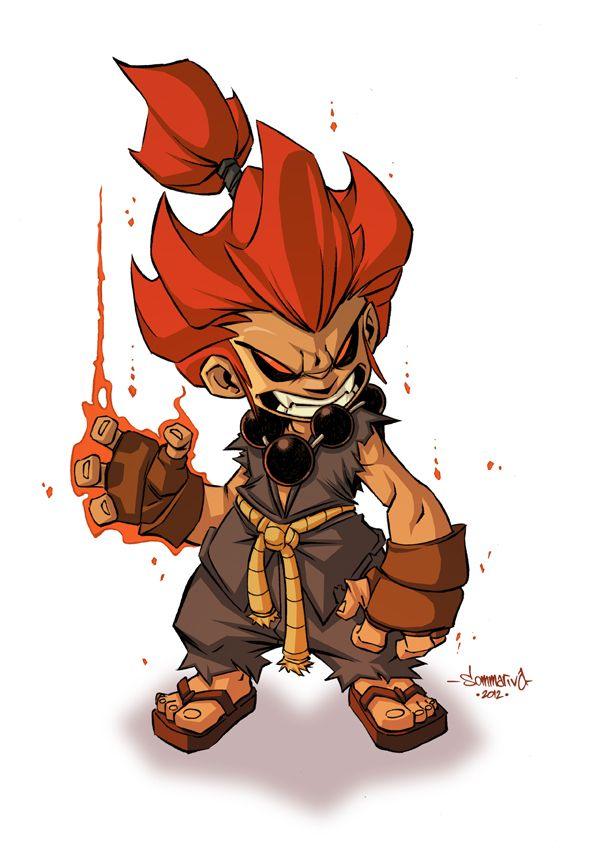 Akuma :: Chibi Commish by Red-J.deviantart.com on @deviantART
