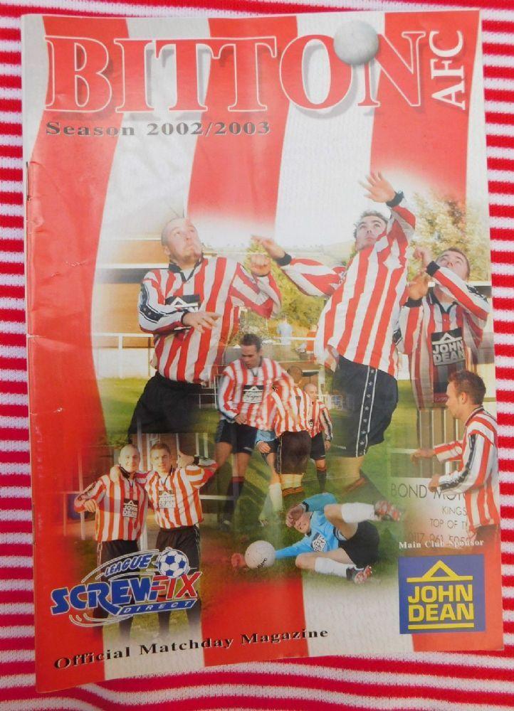 Old Football programme Bitton AFC v Torrington Screwfix Direct League 27 4