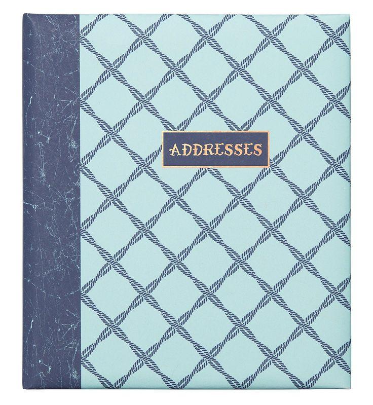 C.R. Gibson Refillable Address Book, Ocean's Depth