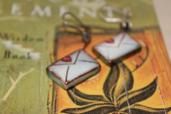 Jewelry/Letter Earrings/Ceramic earrings/Dangle by Ninodesigns