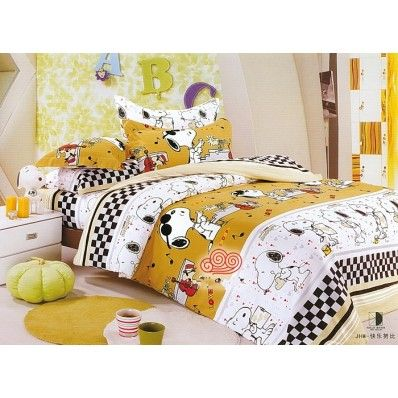 Snoopy Bedding  Brushed Quilt  Cover And  Fitted Sheet  Come only in Twin and Full size