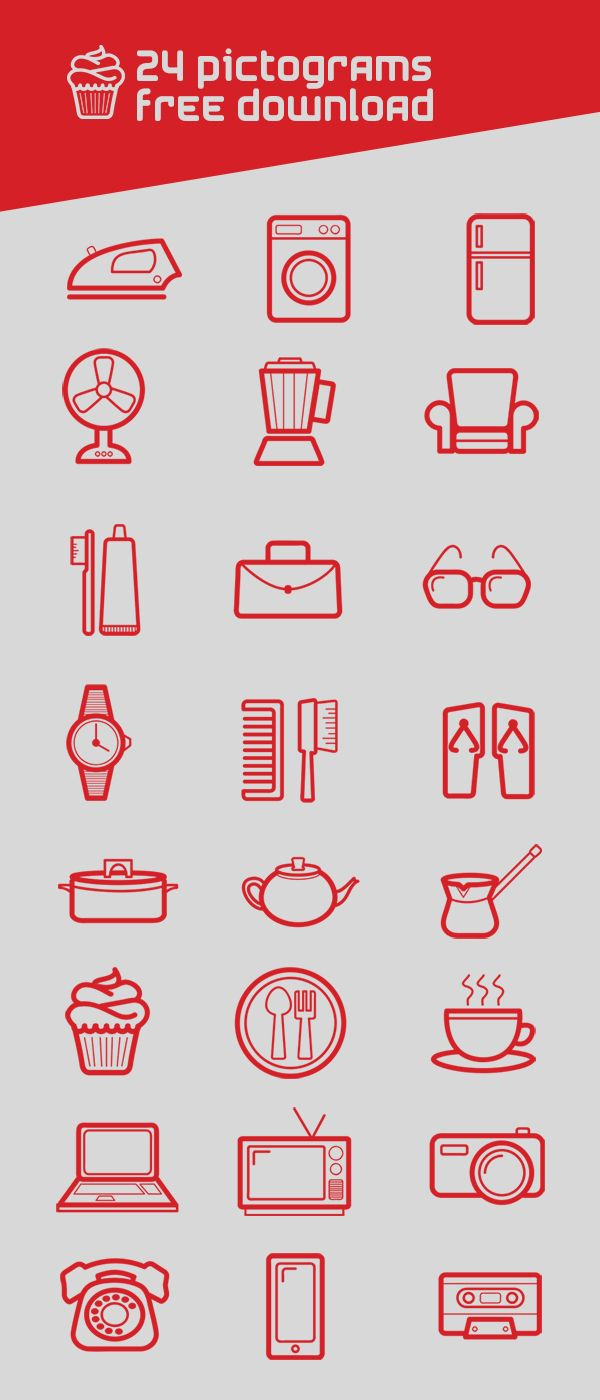24 Pictograms Set – Free Download « Simone Samir | Designs beyond your imagination